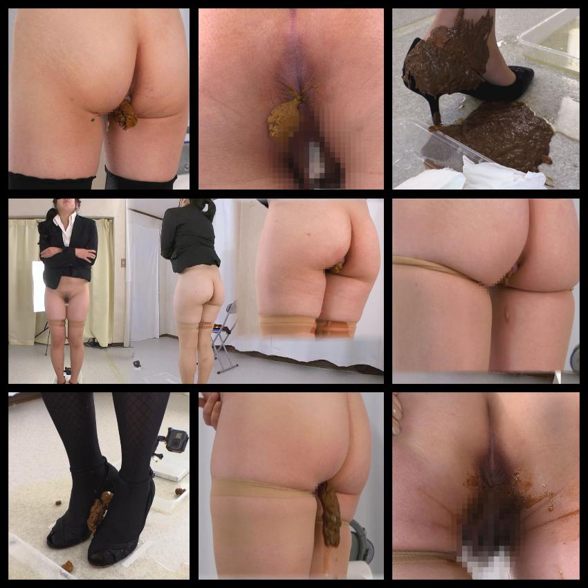 直立うんこ排泄!立ったまま脱糞する女性の超マニアックなスカトロ映像